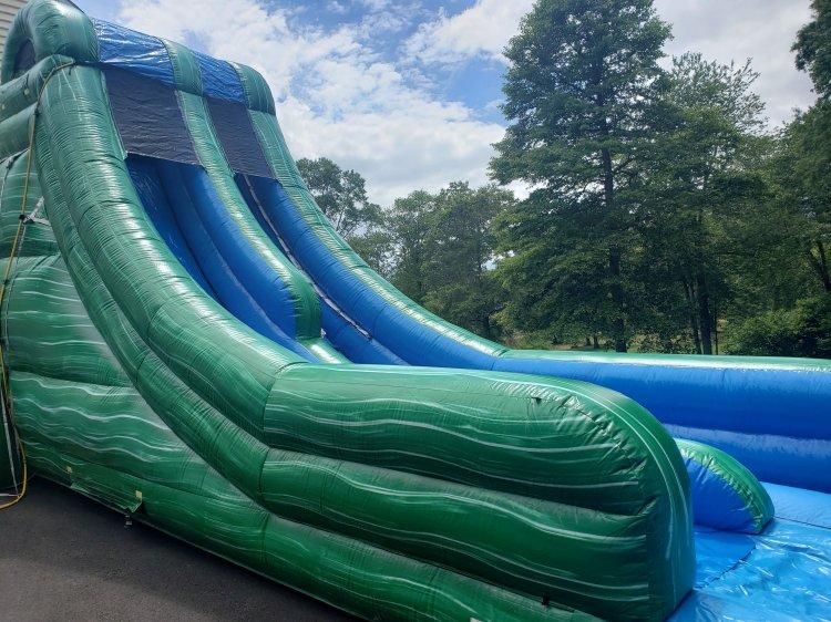 BIG Green Marble Dry Slide