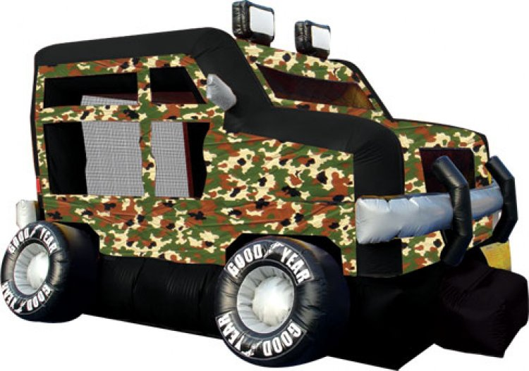 Military Monster Truck Inflatable