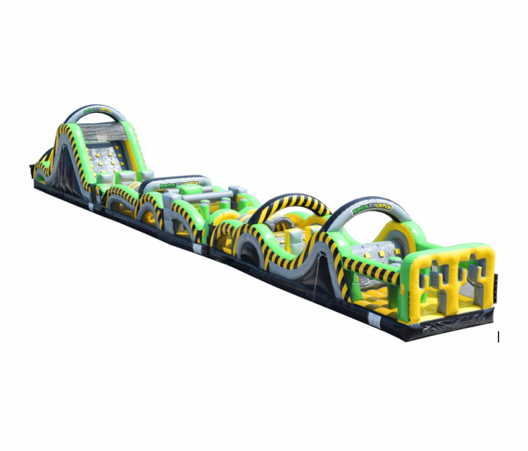95 ft Obstacle Course and Slide Radical Run