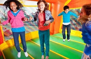 healthy jumping in bounce house